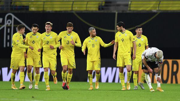 Футболисты сборной Украины