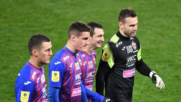 Игроки ПФК ЦСКА Виктор Васин, Илья Шкурин, Алан Дзагоев и Игорь Акинфеев (слева направо)