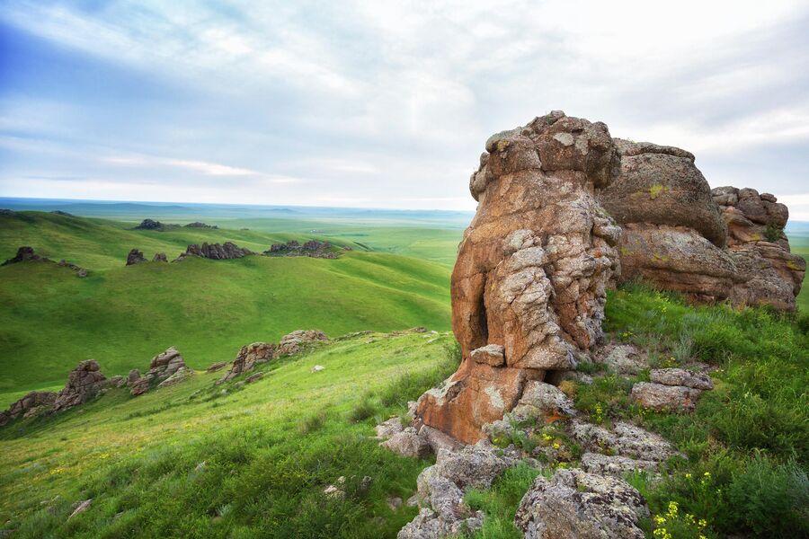Заповедник Даурский, кордон Адон-Челон, горная степь