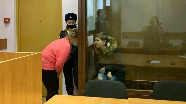 Рассмотрение в Останкинском районном суде ходатайства следствия об аресте москвички Анастасии Джантураевой
