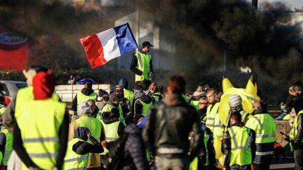 Акция протестного движения желтые жилеты в Нормандии. 18 ноября 2018
