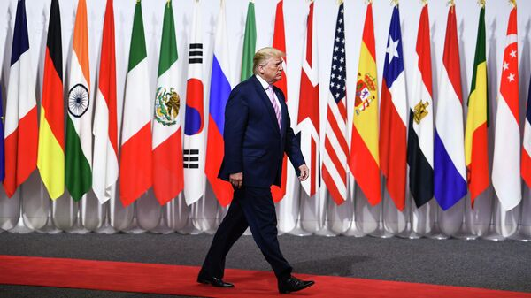 Президент США Дональд Трамп на саммите G20 в Осаке