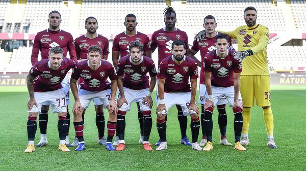Футболисты Торино в матче чемпионата Италии