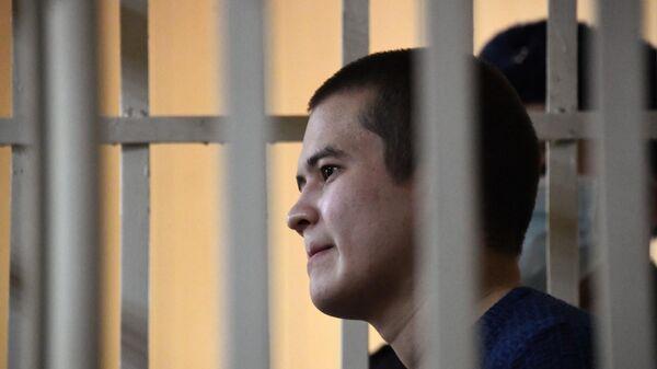 Рамиль Шамсутдинов во время заседания 2-го Восточного окружного военного суда в Чите, где ему будут избирать меру пресечения