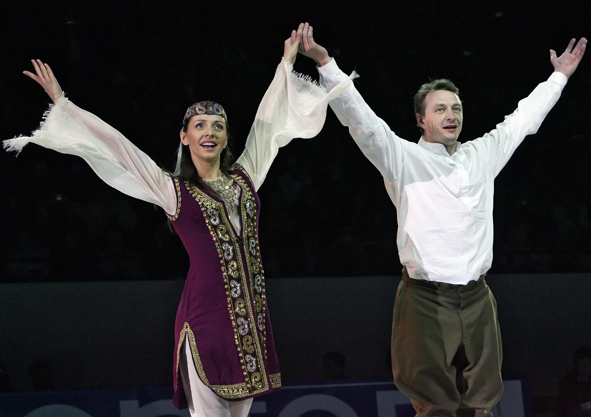 Татьяна Навка и актер Марат Башаров - РИА Новости, 1920, 23.11.2020
