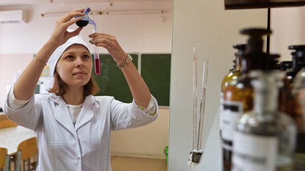 Студентка медицинского университета