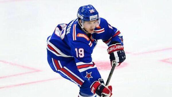 Игрок ХК СКА Владимир Ткачев