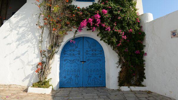 Ворота дома в городе Сиди-Бу-Саид
