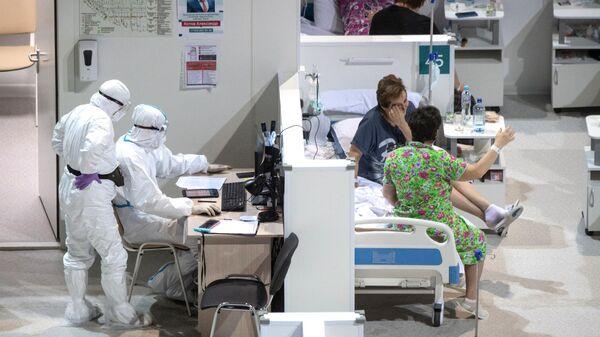 Временный госпиталь COVID-19 в Крылатском
