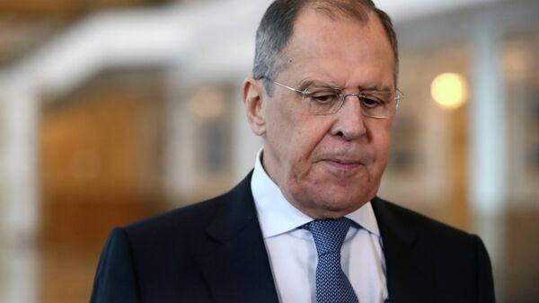 Министр иностранных дел России Сергей Лавро в Минске
