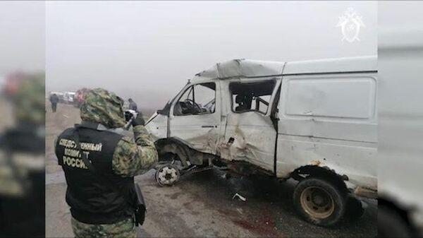 В Краснодарском крае при ДТП погибли шесть человек. Кадры СК