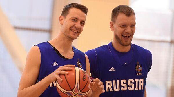 Открытая тренировка мужской сборной РФ по баскетболу