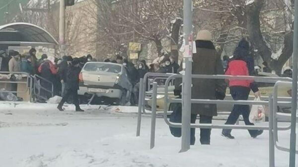 ДТП в Челябинске на пересечении улиц Марченко и Первой Пятилетки