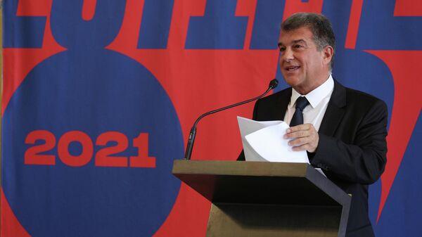 Кандидат в президенты Барселоны Жоан Лапорта