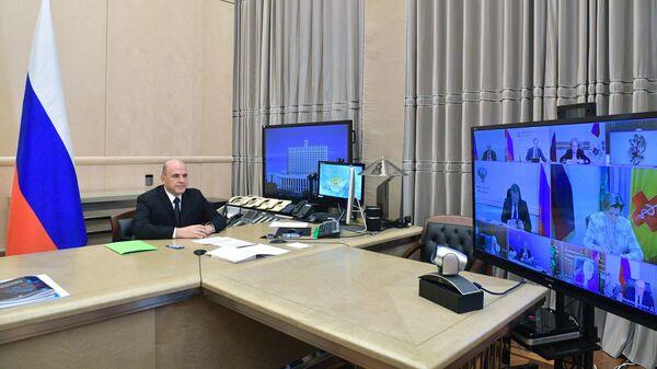 Председатель правительства РФ Михаил Мишустин проводит заседание Координационного совета при правительстве РФ по борьбе с коронавирусом
