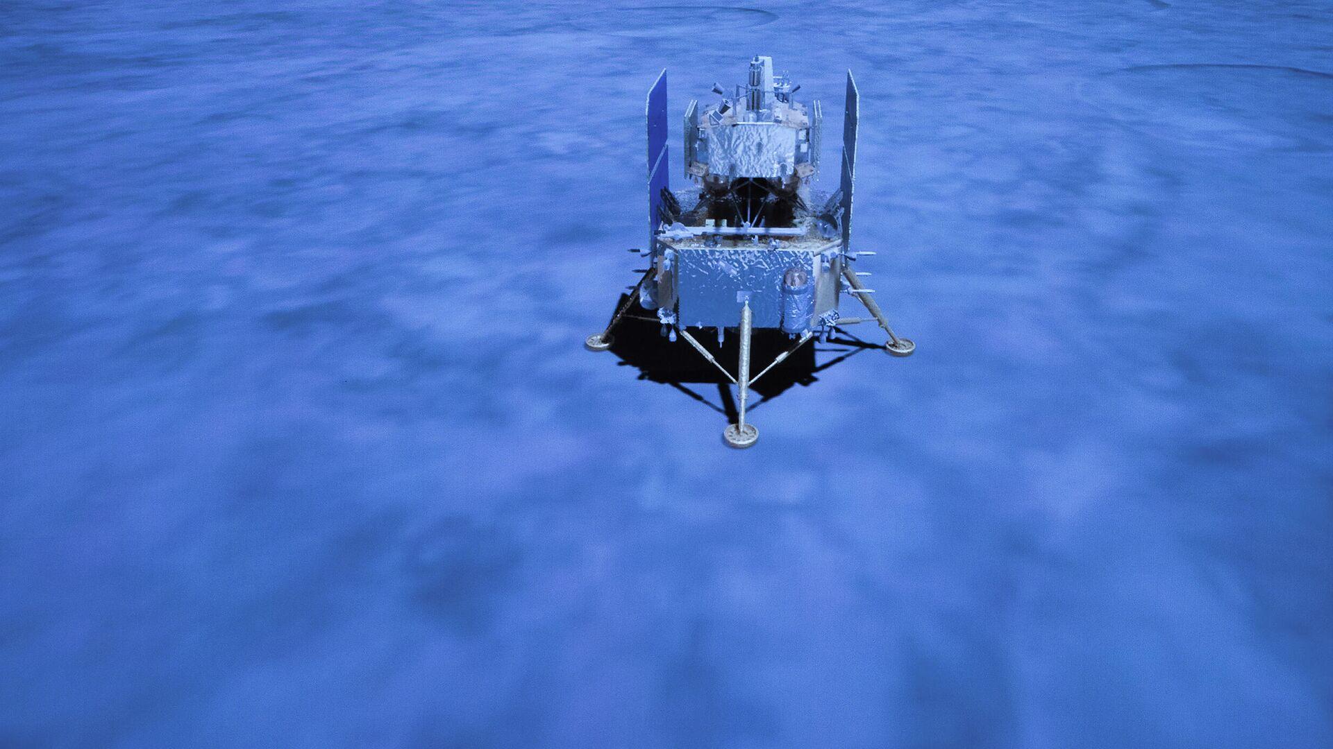 Китайский лунный зонд Чанъэ-5 на поверхности Луны - РИА Новости, 1920, 02.12.2020