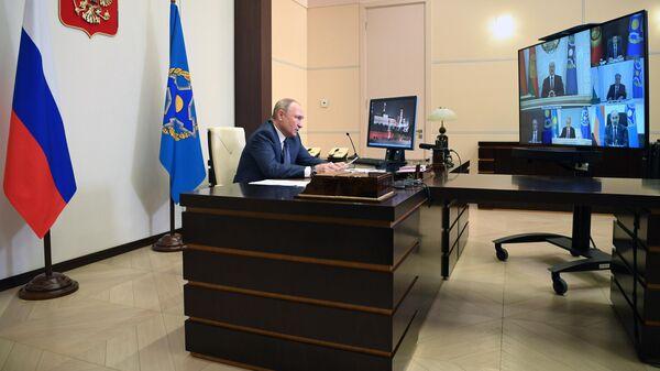 Президент РФ Владимир Путин проводит сессию Совета коллективной безопасности ОДКБ