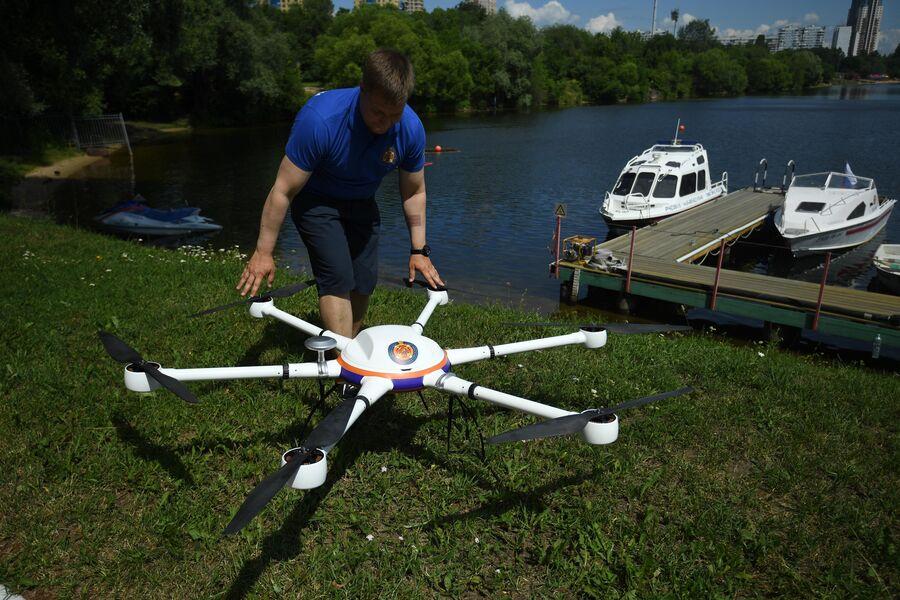 Беспилотный летательный аппарат на поисково-спасательной станции