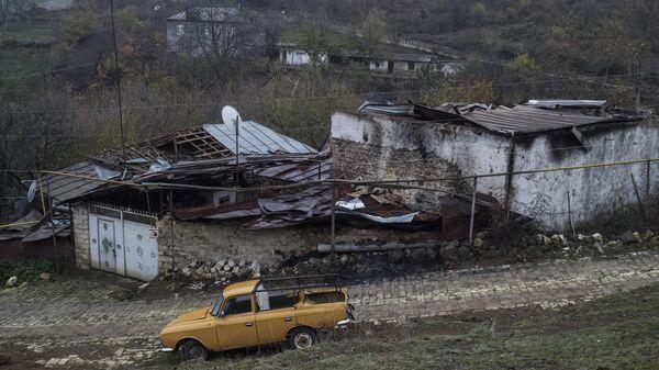 Вид на дома в селе Мачкалашен Мартунинского района в Нагорном Карабахе