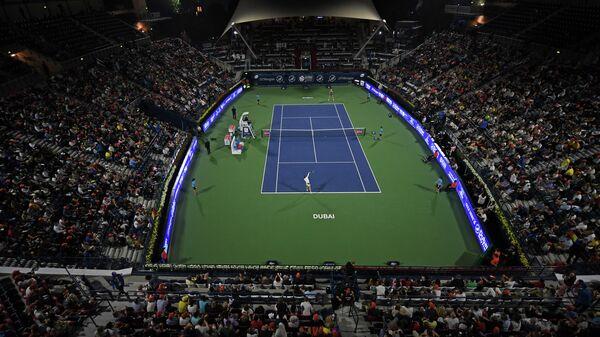 Теннисный матч между Еленой Рыбакиной (Казахстан) и Симоной Халеп (Румыния)