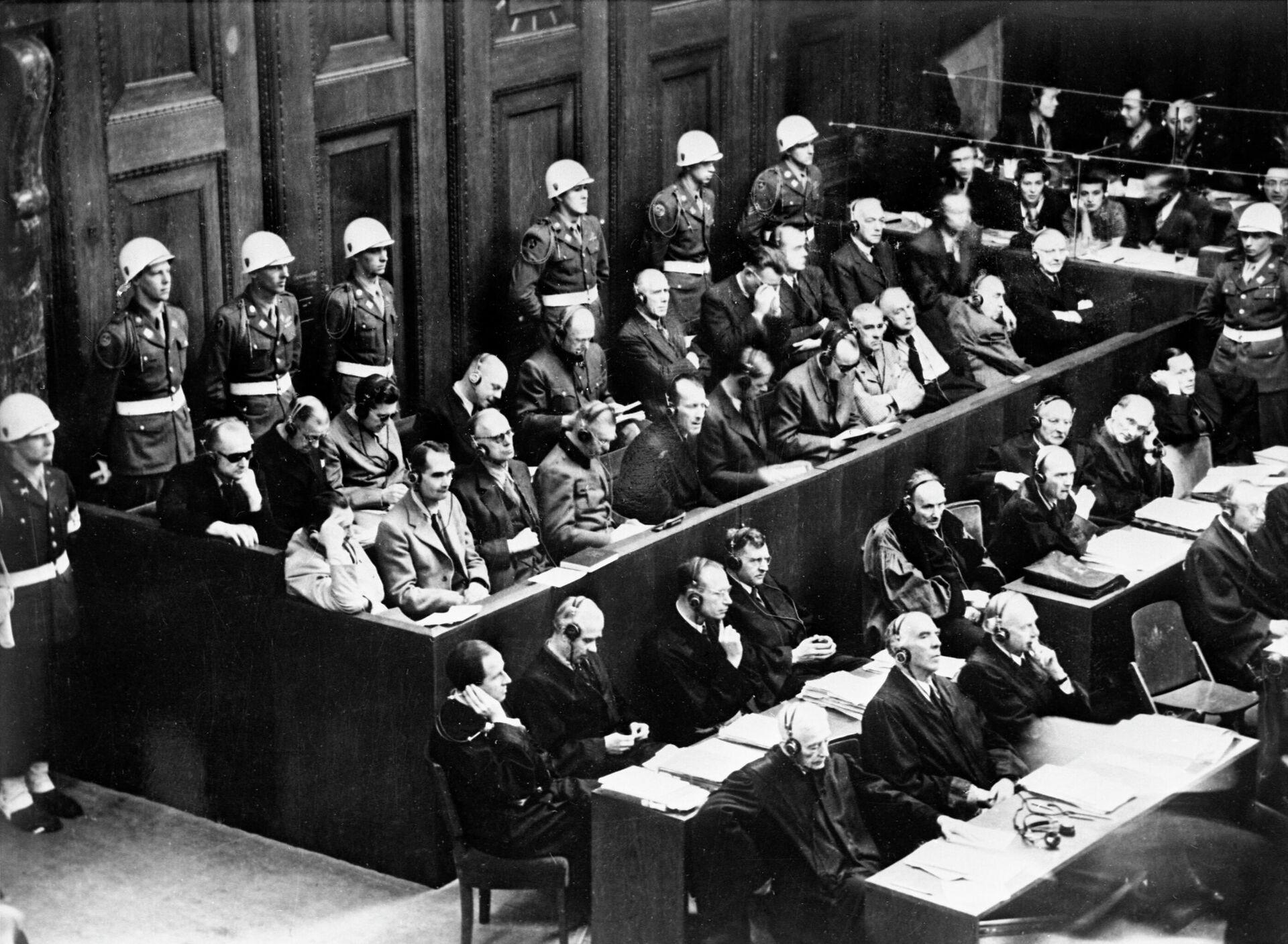 Нюрнбергский процесс. На скамье подсудимых  бывшие руководители гитлеровской Германии  - РИА Новости, 1920, 29.04.2021