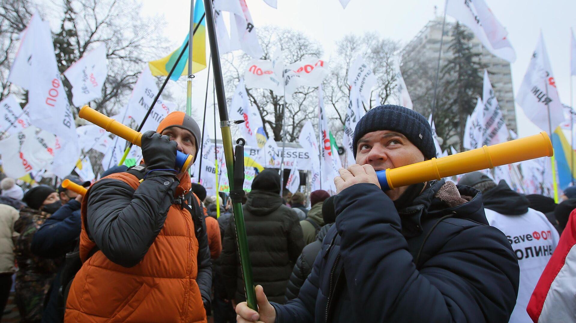 Акция против карантинных мер на Украине - РИА Новости, 1920, 04.01.2021