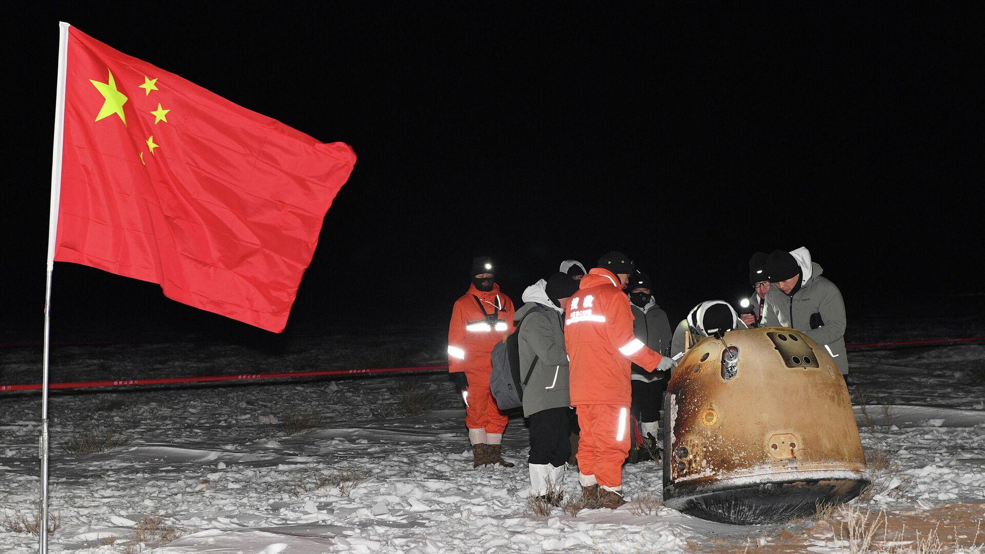 """Доставленные зондом """"Чанъэ-5"""" образцы лунного грунта передали ученым"""