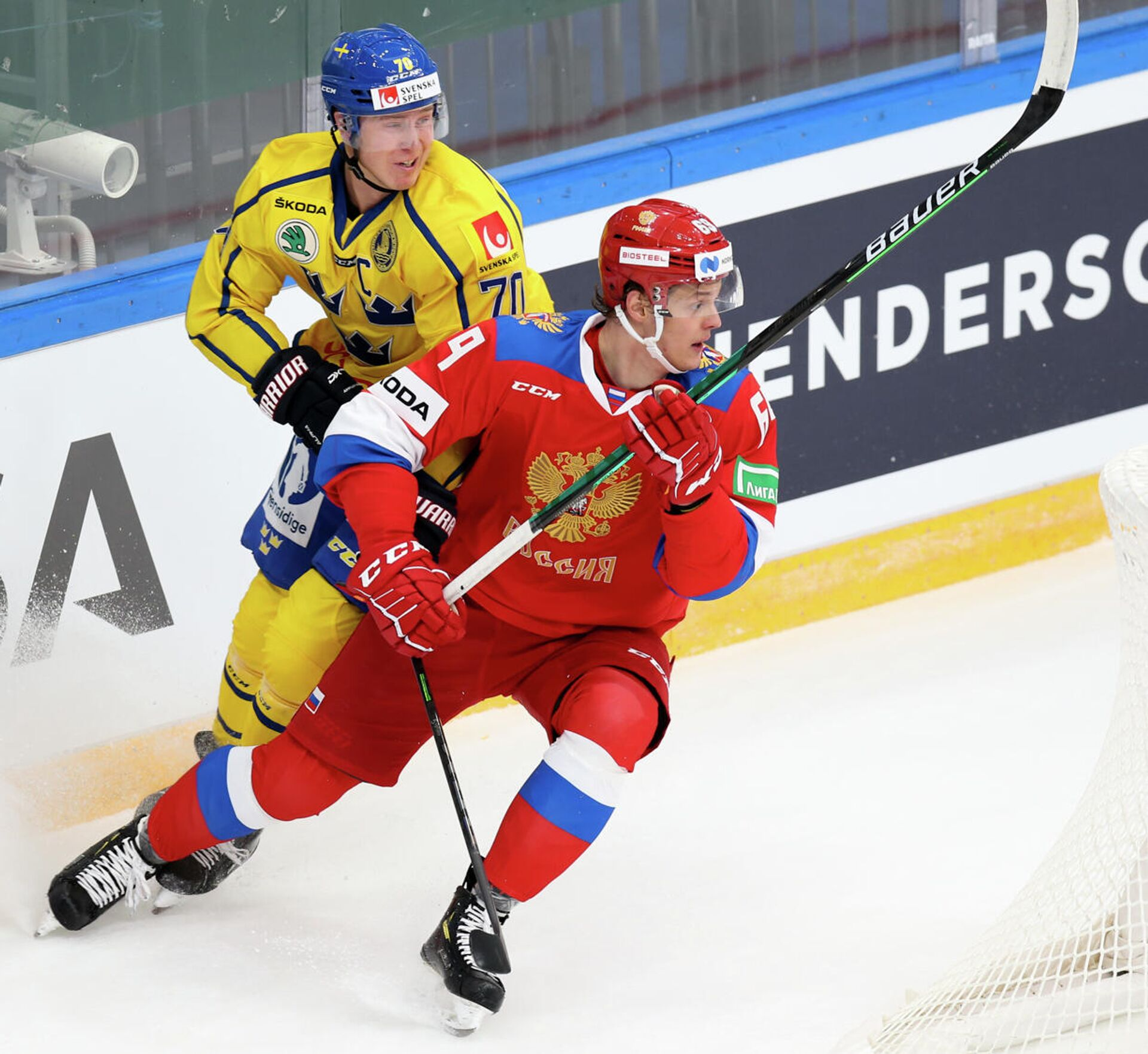 Игровой момент матча Россия - Швеция - РИА Новости, 1920, 18.12.2020