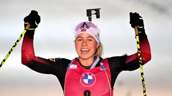 Биатлонистка Тириль Экхофф (Норвегия)