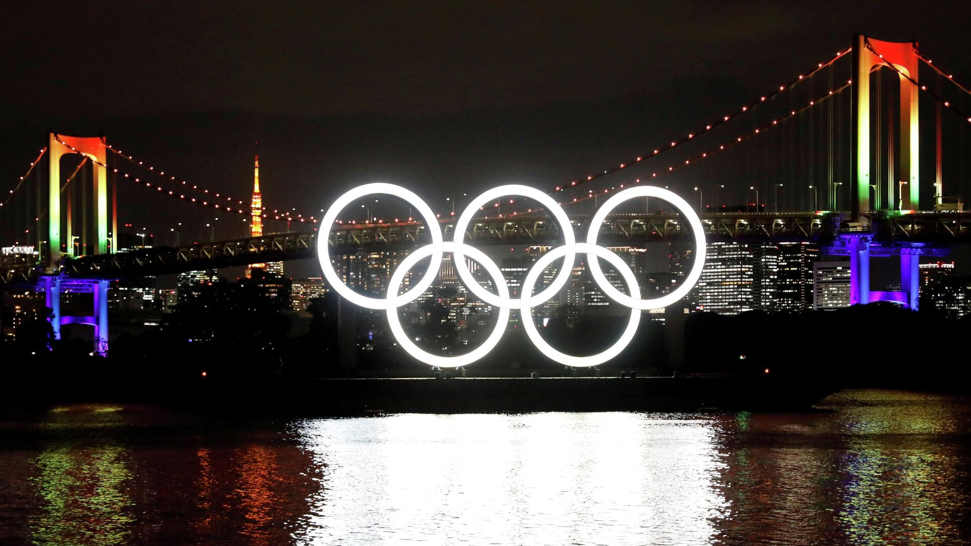 Олимпийские кольца в Токио - РИА Новости, 1920, 17.01.2021