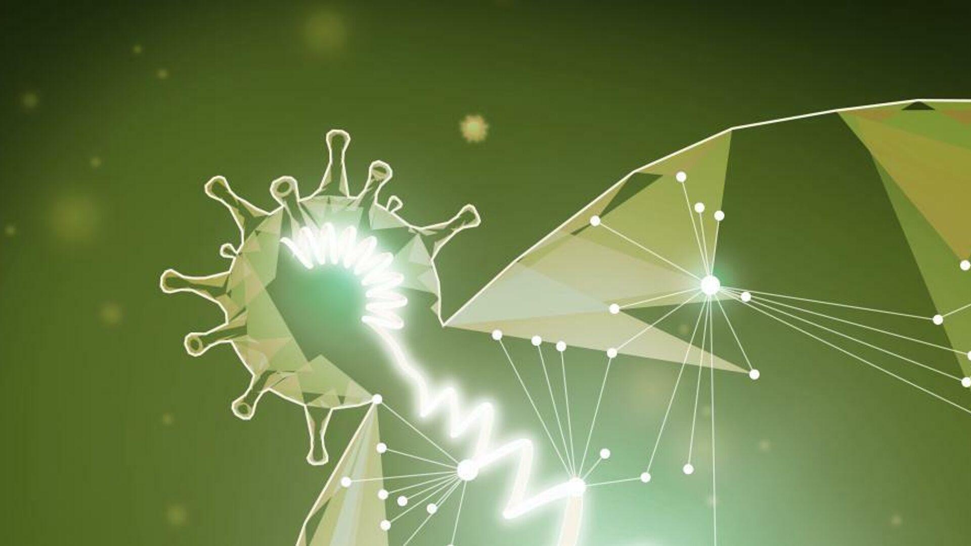 Взаимодействие вируса SARS-CoV-2 с клетками-хозяевами - РИА Новости, 1920, 04.02.2021