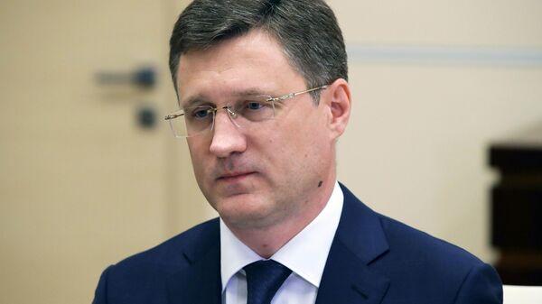 Заместитель председателя правительства РФ Александр Новак во время встречи с президентом РФ Владимиром Путиным