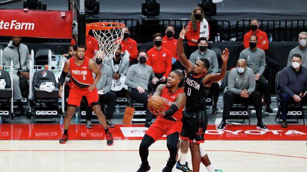 Игровой момент матча НБА Портленд - Хьюстон