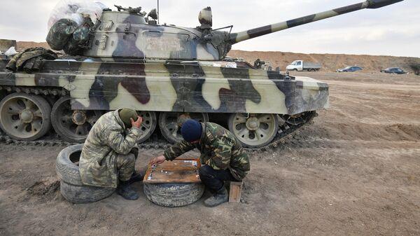 Азербайджанские военнослужащие на территории Агдамского района