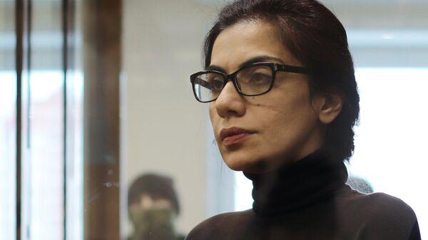 Карина Цуркан  в зале Московского городского суда во время оглашения приговора