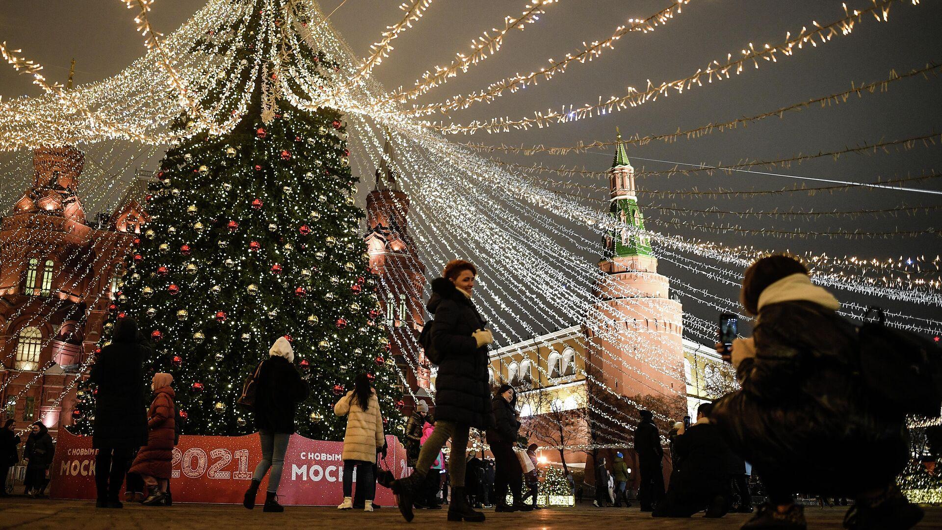 Предновогодняя Москва - РИА Новости, 1920, 31.12.2020