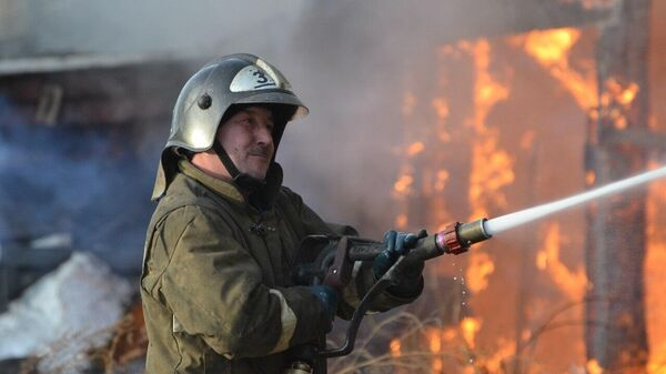 В Красноярском крае загорелся православный храм