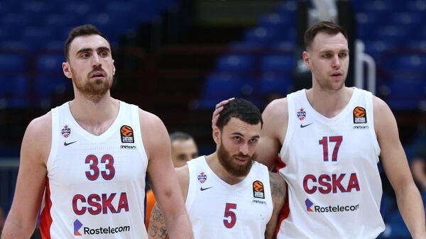 Баскетболисты московского ЦСКА