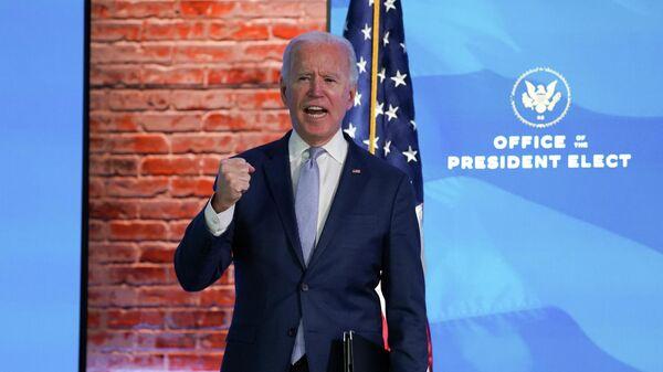 Избранный президент США Джо Байден во время выступления в Уилмингтоне