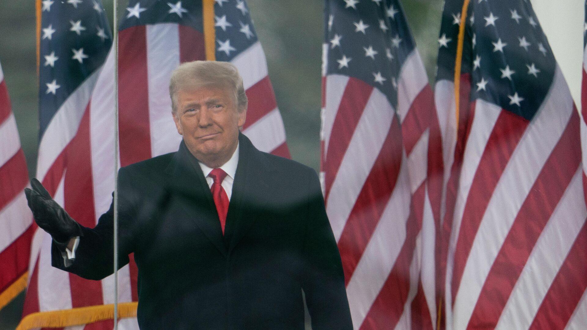Президент Дональд Трамп выступает на митинге в Вашингтоне - РИА Новости, 1920, 12.01.2021