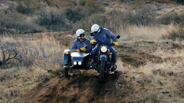 Презентация мотоцикла Ural Gear Up GEO. Кадр видео