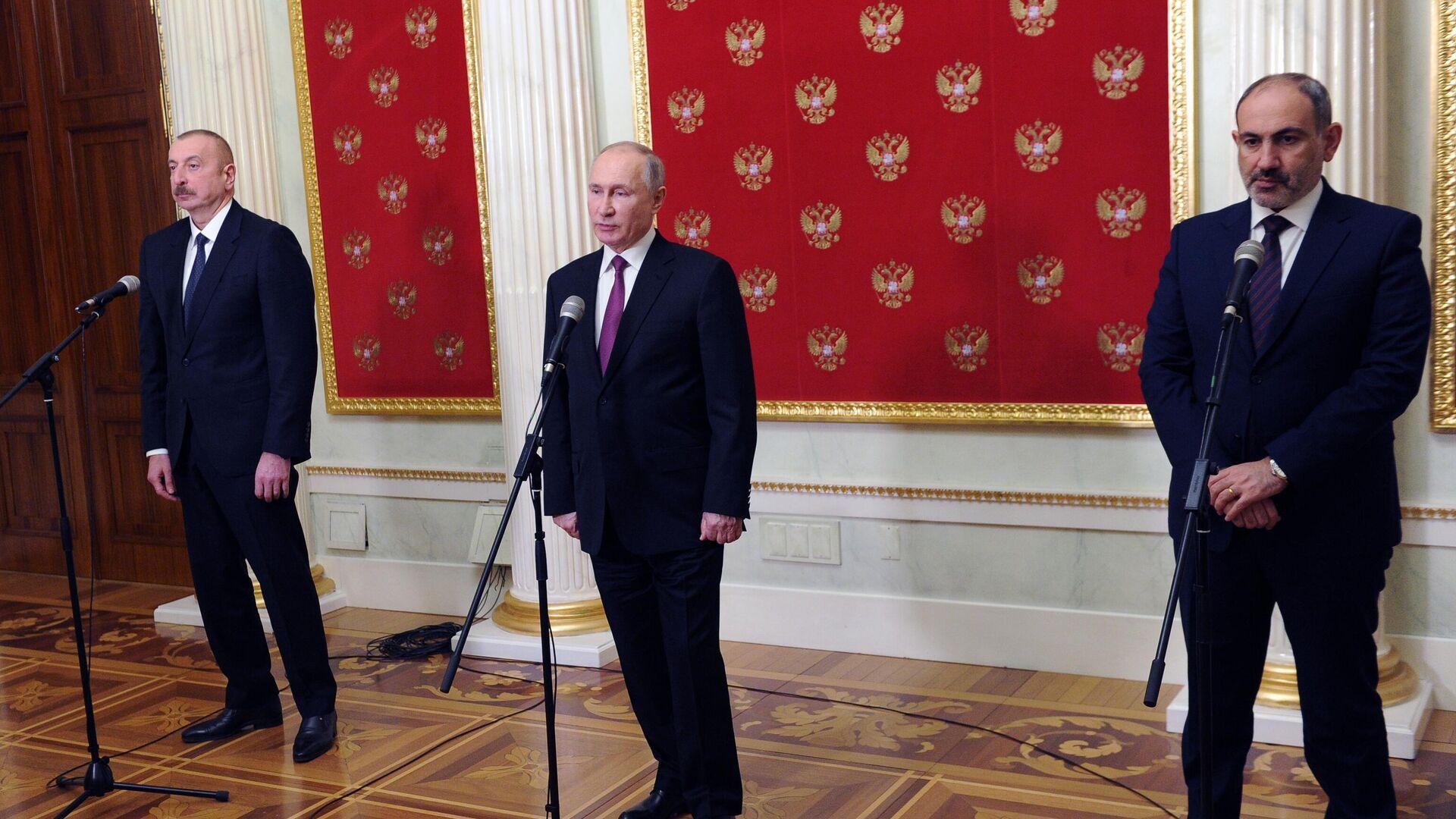 МИД сообщил послам США и Франции о переговорах Путина-Алиева-Пашиняна