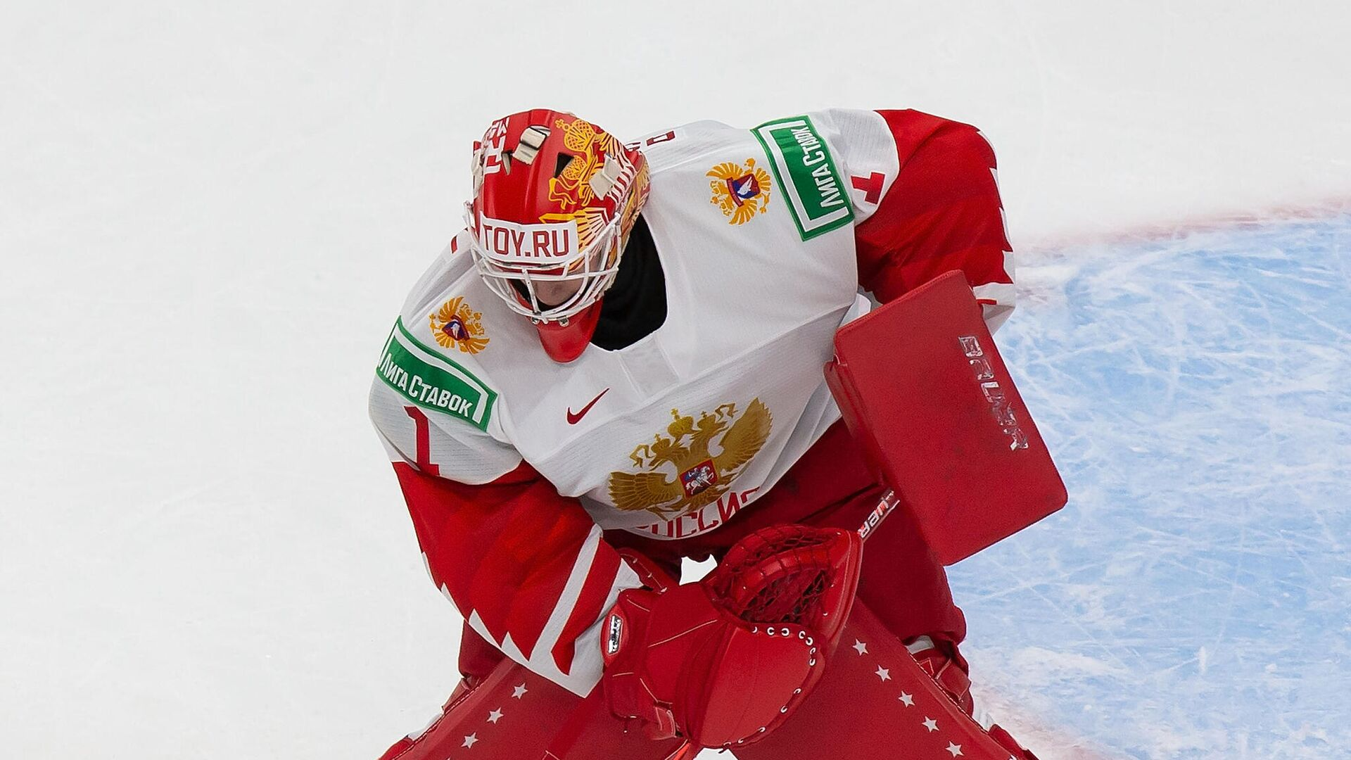 EDMONTON, AB - JANUARY 05: Goaltender Yaroslav Askarov #1 of Russia makes a save against Finland during the 2021 IIHF World Junior Championship bronze medal game at Rogers Place on January 5, 2021 in Edmonton, Canada.   Codie McLachlan/Getty Images/AFP - РИА Новости, 1920, 12.01.2021