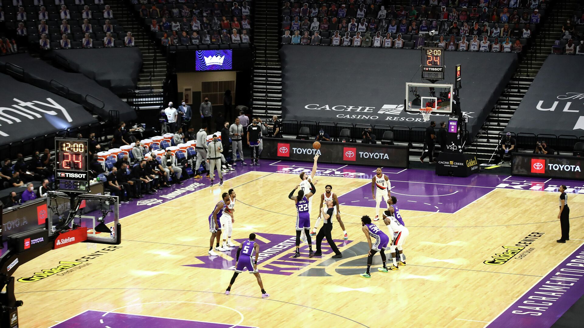 Игровой момент матча НБА Портленд Трэйл Блэйзерс - Сакраменто Кингз - РИА Новости, 1920, 14.01.2021