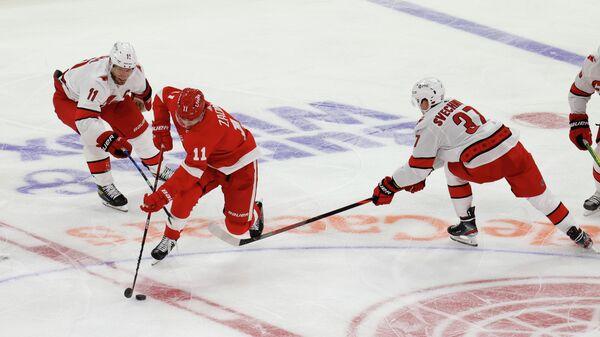 Матч НХЛ между командами Каролина Харрикейнз и Детройт Ред Уингз
