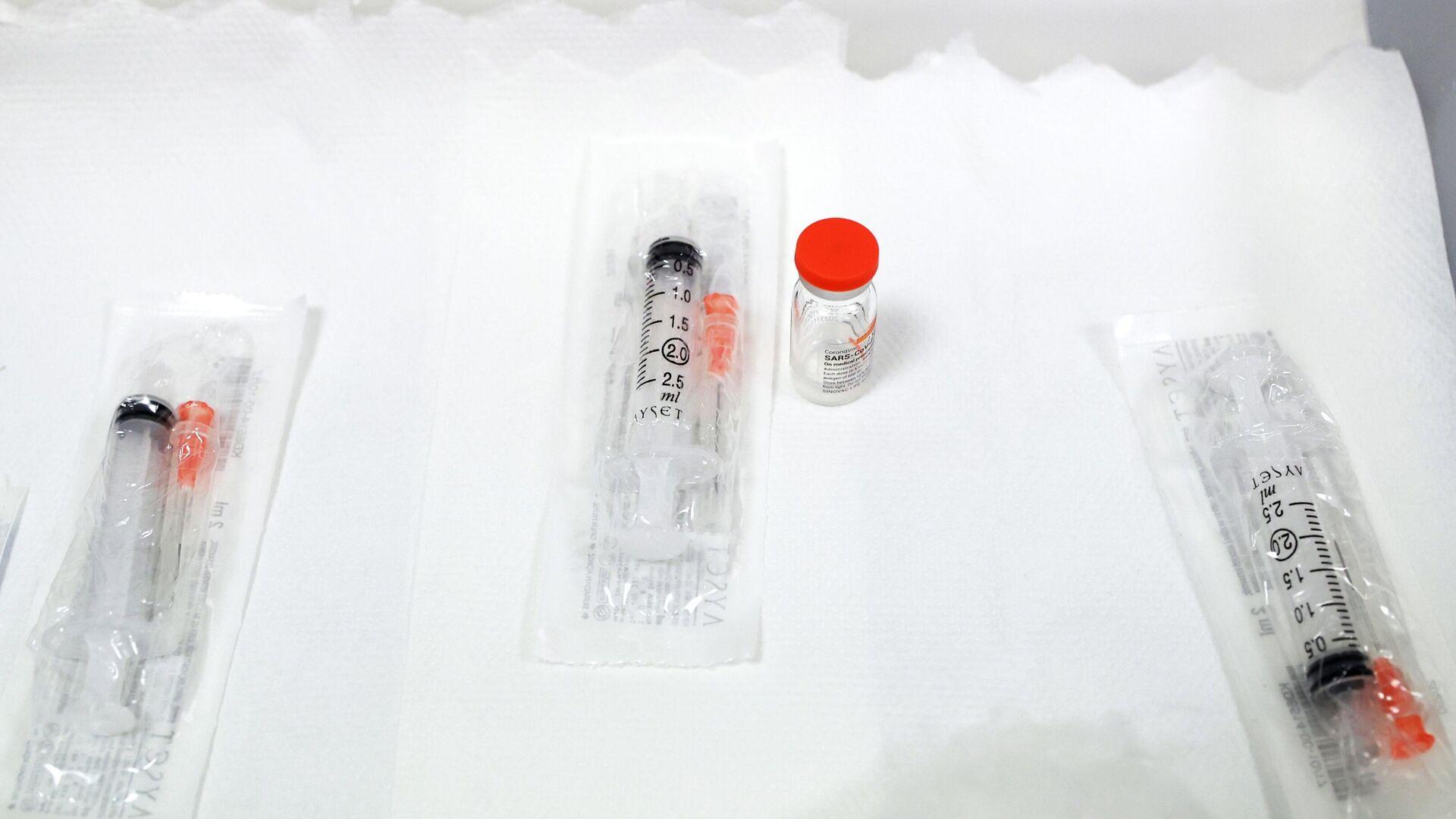 Вакцина СoronaVac китайской компании SinoVac - РИА Новости, 1920, 18.01.2021
