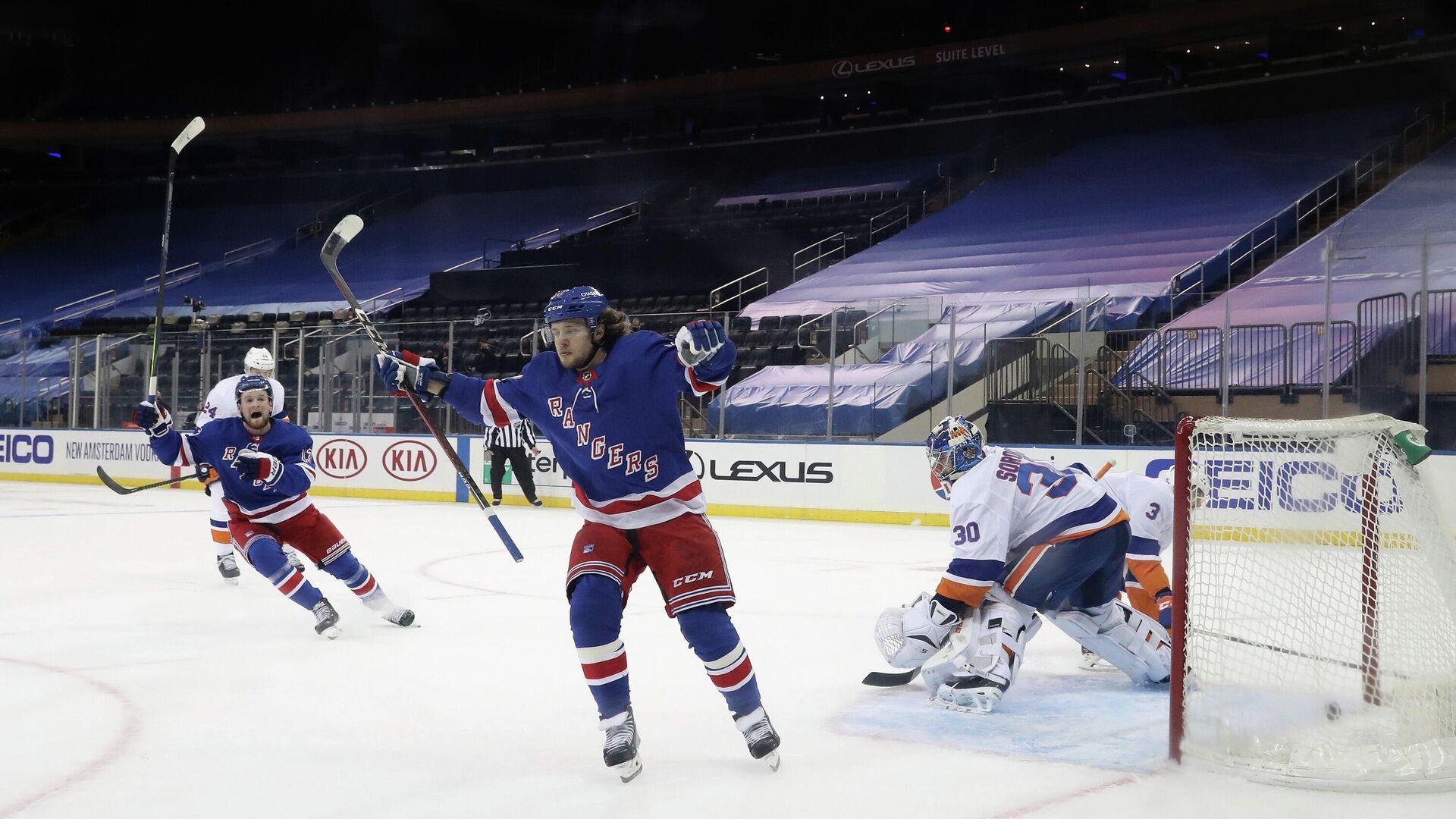 Артемий Панарин в матче НХЛ против Нью-Йорк Айлендерс - РИА Новости, 1920, 17.01.2021