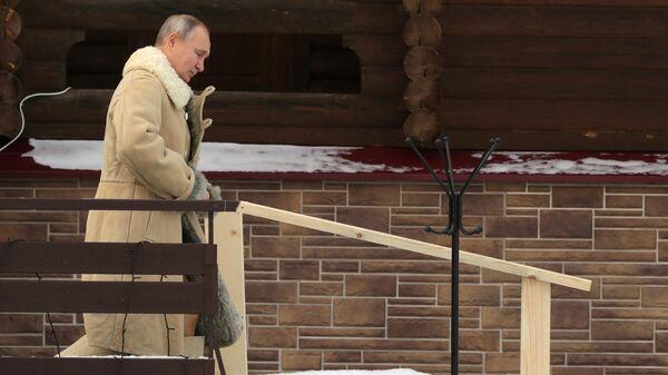Президент РФ Владимир Путин принимает участие в крещенских купаниях