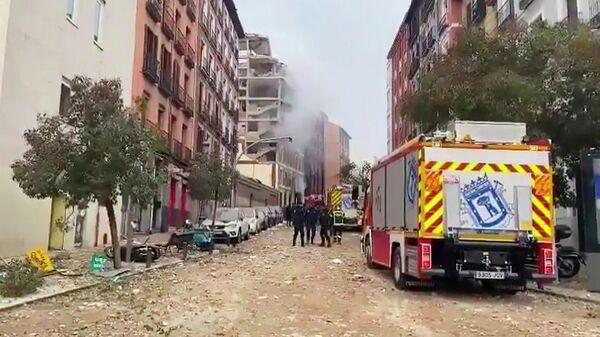 Взрыв в Мадриде. Кадр видео
