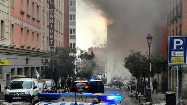 На месте взрыва здания в Мадриде